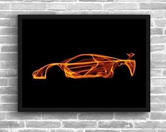 McLaren F1 Art Wall Art Supercar  Man Cave Gift For Him Automotive Art Car Art Home Decor McLaren F1 Décor McLaren P1 poster McLaren Print