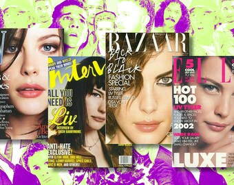 Liv Tyler - Vintage Look Magazine Cover Refrigerator Magnets  (4pk)