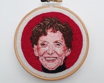 Custom Portrait Embroidery, Hand Embroidered Portrait, Custom Art, People Portraits, Embroidery Art, Custom Hoop Art, Portrait Art