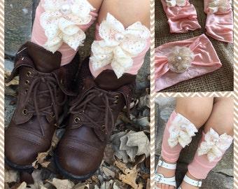 Baby boot socks, kids boot socks, lace boot socks, little girls boot socks, baby leg warmers, little girl legwarmers, lace legwarmers,