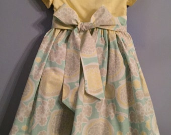 Children's and Girl's  Floral Dress with Sash