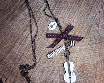 Violin Necklace ~1 pieces #100393