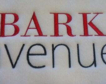 Bark Avenue Machine Embroidery Design Single - 4x4 hoop
