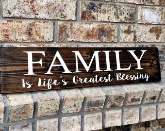 Family Sign | Family Signs | Blessings Signs | Wood Sign | Rustic Signs | Wedding Gifts | Rustic Wood Signs | Gifts | Gallery Wall Signs