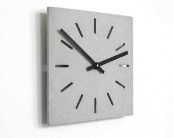 thincrete - Wall clock made of concrete