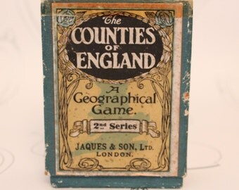 The Counties of England A Geographical Game by Jaques & Son