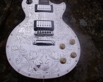 lespaul metal top ephiphone hand engraved after zemaitis
