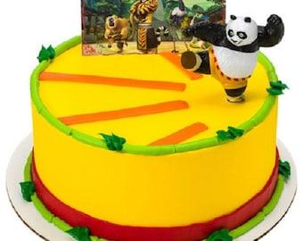 Kung Fu Panda 3 Cake Topper Decoration Po & The Furious Five 2 Piece Set