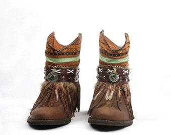 Boho Chic handmade booties