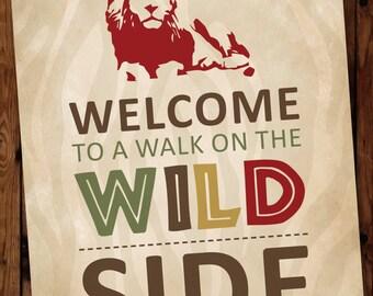 Safari Birthday Welcome Sign, Jungle Birthday Welcome Sign, Zoo Birthday Welcome Sign