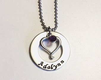 Name and Heart Necklace