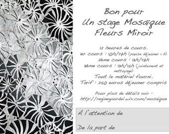 gift card mosaic flower mirror