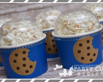 Cookie Birthday Party-Ice Cream Party Cups-Treat Cups