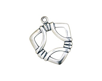 Designer Toggle Clasp -Sterling Silver (#9584)