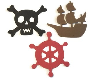 25 Pirate theme Cut Tags, Pirate Theme Baby Shower, Pirate Theme Birthday Party, Pirate Party, Pirate Decor, DIY