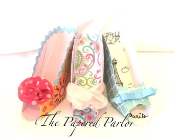 High Heel Party Favors /Paper Shoes/Stiletto Party/Cottage Chic/Sweet 16/Birthday Party Favors/High Heel Party/High Heel Theme