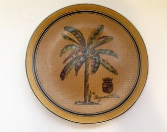 Raymond Waites Decorative Collector Palm Tree Plate