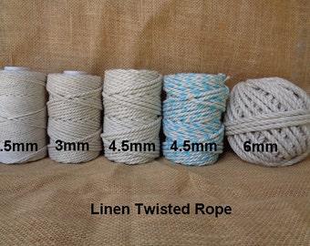 Linen Rope/ Macrame cord