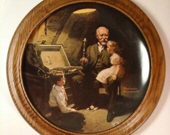 "Vintage Norman Rockwell Wall Plate ""Grandma's Treasure Chest"""