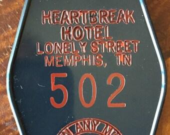 Elvis Presley Inspired Heart Break Hotel Keytag