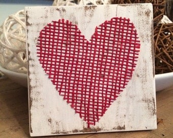 Burlap Heart Decor
