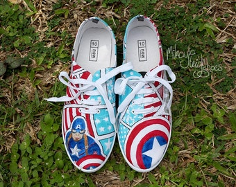 Custom Canvas Shoes - Marvel Captain America
