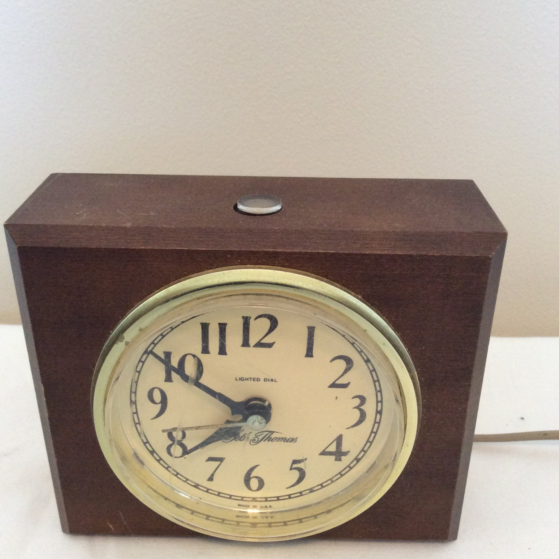 Electric Alarm Clock ~ Seth thomas electric alarm clock lighted dial general time