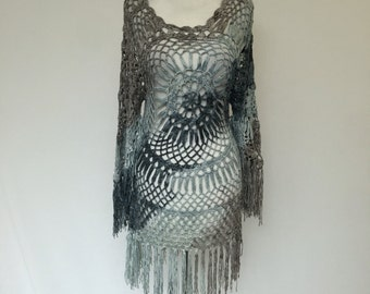 One of Kind Summer Crochet Swimsuit Cover Up ON SALE