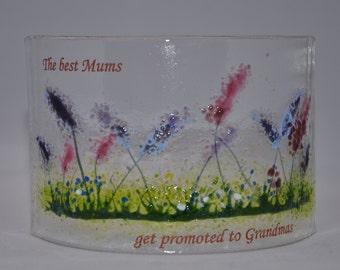 Handmade Fused Glass Art : Spring Garden - Grandma