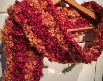 Red Scarf   Orange Scarf   Handmade Accessories   Women's Accessories   Mohair Scarf   Mohair Stole   Crochet Scarf   Women's Scarves