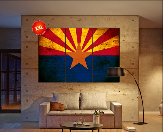 arizona state flag canvas art print large wall art canvas. Black Bedroom Furniture Sets. Home Design Ideas