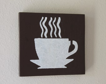 Coffee cup pallet sign  *Kitchen decor* Coffee nook decor*
