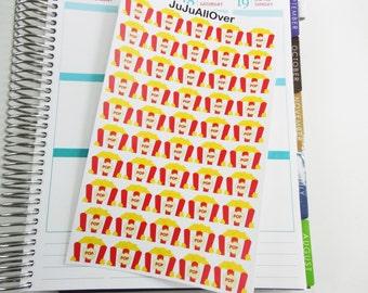 50 Popcorn Tub Stickers