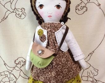 Cloth Rag Doll / Handmade Rag Doll With Doll Clothes / Custom Cloth Dolls / Rag Dolls/ Dolls / Rag Doll Handmade / Fabric Doll With Wardrobe