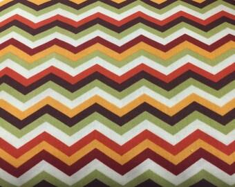 fall colors chevron zig zag curtain valance