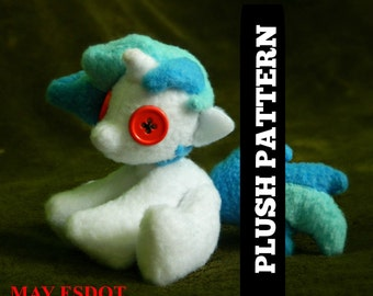 MLP Small Keychain or Magnet Pony Plush Pattern