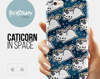 Space Caticorn iPhone 7 case, Unicorn iPhone 6s case, cat iPhone 6 Plus case, Samsung Galaxy S5, S6, S7 case, 5s, 5c case, kawaii 6s plus UK