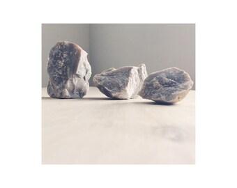 Set of 3 Lavender Quartz Pieces for Jewelry + Decor + Art