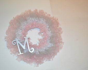 Monogram Layered Tulle Wreath