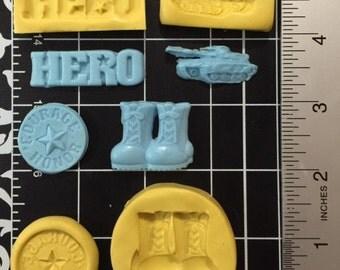 Hero set silicone mold 4 pieces
