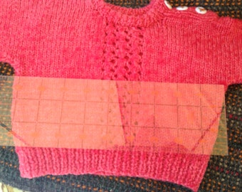 """18-20"""" Doll Bear HAND KNITTED Sweater"""