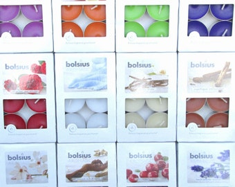 Pack of 6 Aromatic Scented Tealights (Bolsius). ** BUY 4 GET 1 FREE **