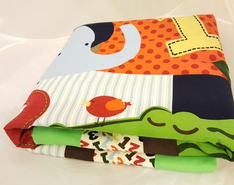 Baby Blanket - Baby Comforter - Baby Quilts - Toddler Blanket - Toddler Comforter - Toddler Quilts - ABC 123 Monkey *R7*