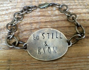 The {Be Still & Know} Chain Bracelet