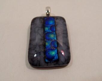 Multicolor dichroic glass pendant