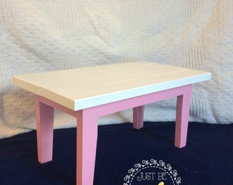 """Wooden Table - 18"""" dolls - Painted"""