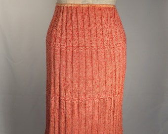 Red and White Vintage Sweater Skirt | Wiggle Skirt