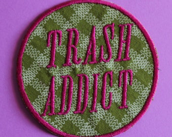 Trash Addict Iron On Patch