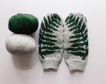 Fern Knit Mittens