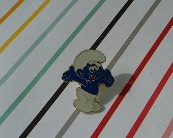 Vintage 1980s Old Store Stock Smurfs Enamel Pin